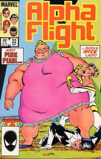 Cover Thumbnail for Alpha Flight (Marvel, 1983 series) #22 [Direct Edition]