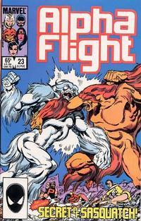 Cover Thumbnail for Alpha Flight (Marvel, 1983 series) #23 [Direct]