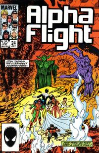 Cover Thumbnail for Alpha Flight (Marvel, 1983 series) #24 [Direct Edition]