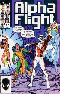 Cover Thumbnail for Alpha Flight (Marvel, 1983 series) #27 [Direct Edition]