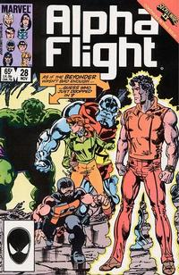 Cover Thumbnail for Alpha Flight (Marvel, 1983 series) #28 [Direct Edition]