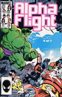 Cover Thumbnail for Alpha Flight (Marvel, 1983 series) #29 [Direct Edition]