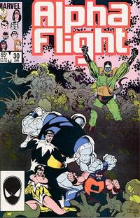 Cover for Alpha Flight (Marvel, 1983 series) #30 [Direct Edition]