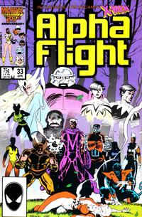 Cover Thumbnail for Alpha Flight (Marvel, 1983 series) #33 [Direct Edition]
