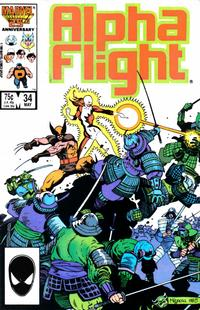 Cover Thumbnail for Alpha Flight (Marvel, 1983 series) #34 [Direct Edition]