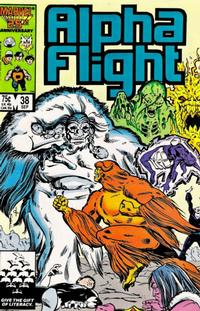 Cover Thumbnail for Alpha Flight (Marvel, 1983 series) #38 [Direct Edition]