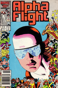 Cover Thumbnail for Alpha Flight (Marvel, 1983 series) #40 [Newsstand Edition]