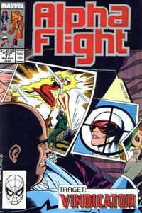 Cover for Alpha Flight (Marvel, 1983 series) #77