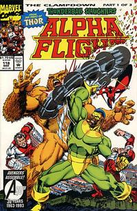 Cover for Alpha Flight (Marvel, 1983 series) #118