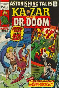 Cover Thumbnail for Astonishing Tales (Marvel, 1970 series) #4 [Regular Edition]