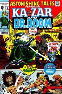 Cover Thumbnail for Astonishing Tales (Marvel, 1970 series) #5 [Regular Edition]