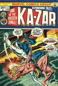 Cover Thumbnail for Astonishing Tales (Marvel, 1970 series) #17