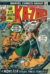 Cover Thumbnail for Astonishing Tales (Marvel, 1970 series) #18 [Regular Edition]