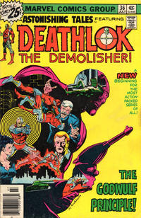 Cover Thumbnail for Astonishing Tales (Marvel, 1970 series) #36 [25¢ Cover Price]