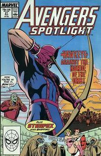 Cover Thumbnail for Avengers Spotlight (Marvel, 1989 series) #21 [Direct]