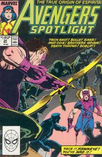 Cover Thumbnail for Avengers Spotlight (Marvel, 1989 series) #24 [Direct]