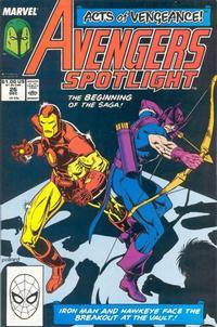 Cover Thumbnail for Avengers Spotlight (Marvel, 1989 series) #26 [Direct]