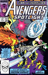 Cover Thumbnail for Avengers Spotlight (Marvel, 1989 series) #27 [Direct]