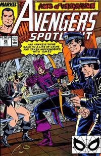 Cover Thumbnail for Avengers Spotlight (Marvel, 1989 series) #28 [Direct]