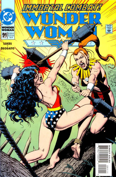 Cover for Wonder Woman (DC, 1987 series) #91 [Direct Sales]