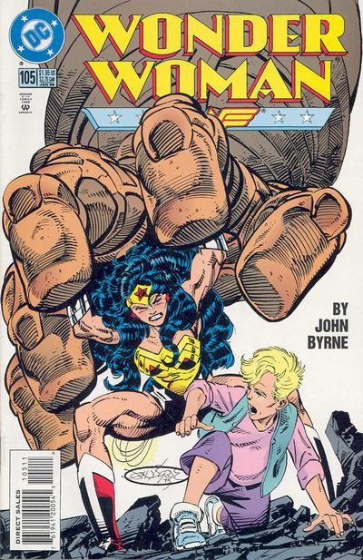 Cover for Wonder Woman (DC, 1987 series) #105 [Direct Edition]