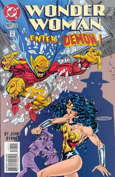 Cover for Wonder Woman (DC, 1987 series) #107 [Direct Edition]