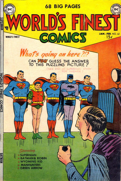 Cover for World's Finest Comics (DC, 1941 series) #62