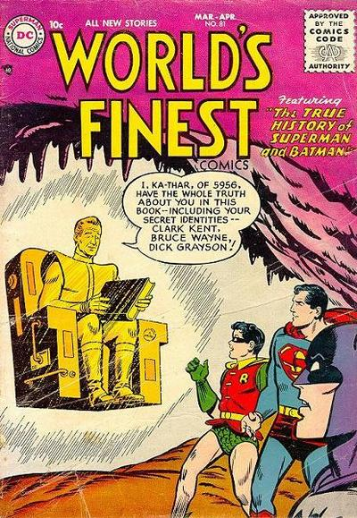 Cover for World's Finest Comics (DC, 1941 series) #81