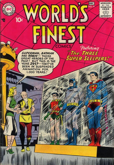 Cover for World's Finest Comics (DC, 1941 series) #91