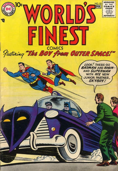 Cover for World's Finest Comics (DC, 1941 series) #92