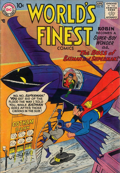 Cover for World's Finest Comics (DC, 1941 series) #93