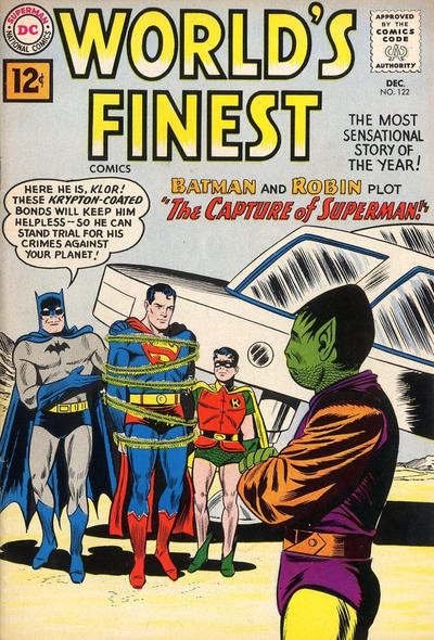 Cover for World's Finest Comics (DC, 1941 series) #122