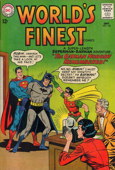 Cover for World's Finest Comics (DC, 1941 series) #136
