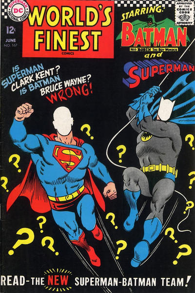 Cover for World's Finest Comics (DC, 1941 series) #167