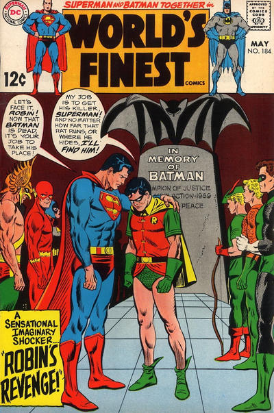 Cover for World's Finest Comics (DC, 1941 series) #184