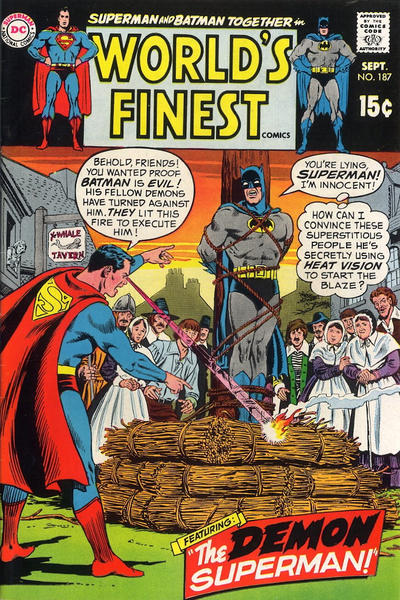 Cover for World's Finest Comics (DC, 1941 series) #187
