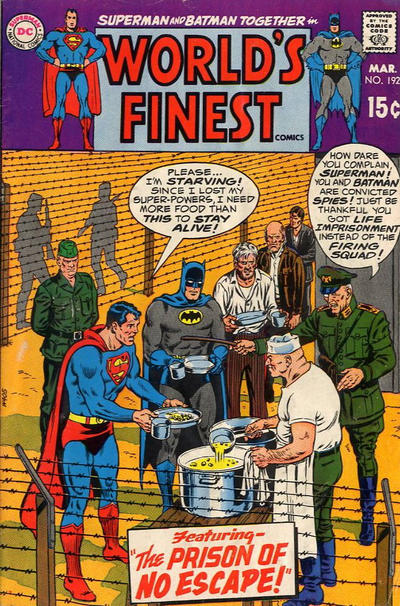 Cover for World's Finest Comics (DC, 1941 series) #192