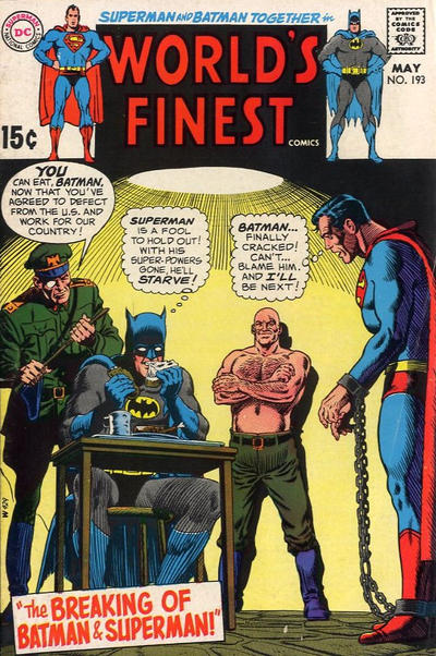 Cover for World's Finest Comics (DC, 1941 series) #193