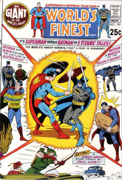 Cover for World's Finest Comics (DC, 1941 series) #197