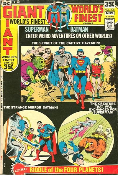 Cover for World's Finest Comics (DC, 1941 series) #206