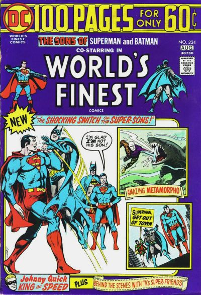 Cover for World's Finest Comics (DC, 1941 series) #224