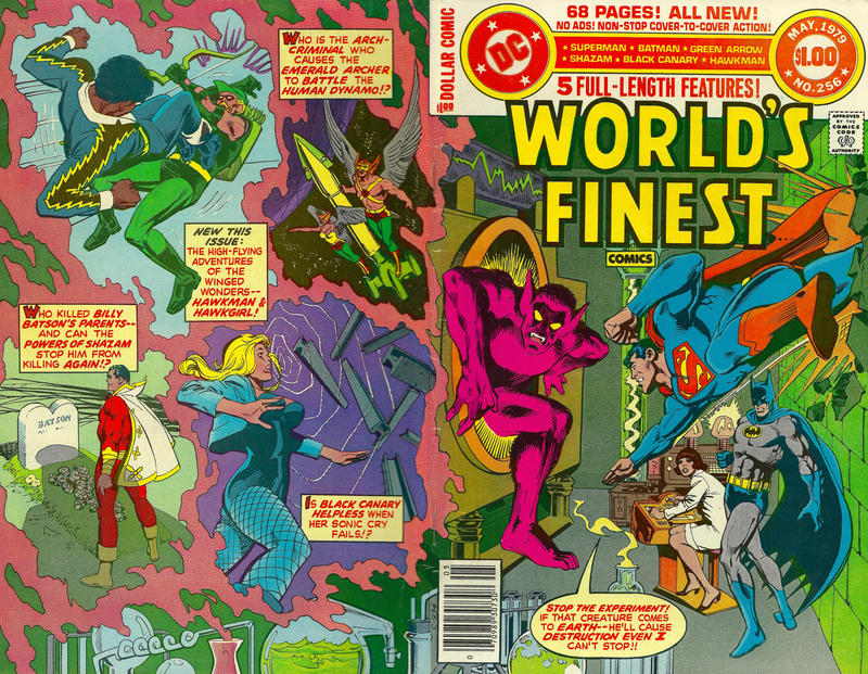 Cover for World's Finest Comics (DC, 1941 series) #256