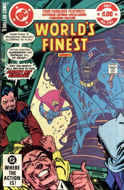 Cover for World's Finest Comics (DC, 1941 series) #281 [Newsstand]