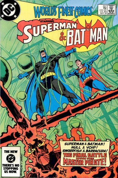 Cover for World's Finest Comics (DC, 1941 series) #307 [Newsstand]