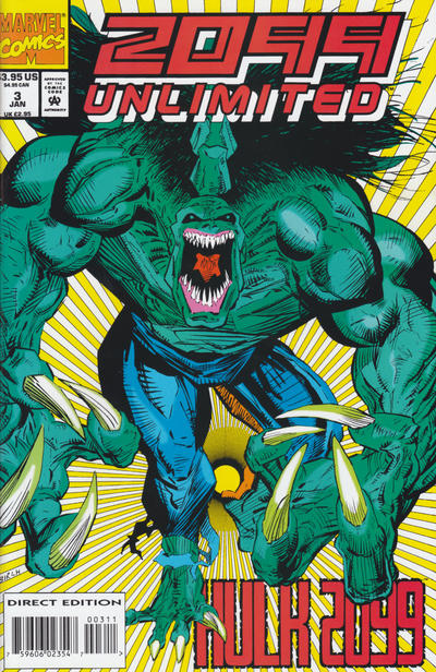 Cover for 2099 Unlimited (Marvel, 1993 series) #3 [Direct Edition]