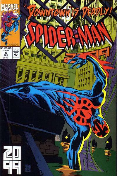 Cover for Spider-Man 2099 (Marvel, 1992 series) #6 [Newsstand]