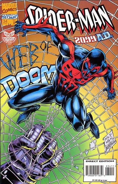 Cover for Spider-Man 2099 (Marvel, 1992 series) #34 [Newsstand]