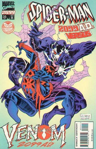Cover for Spider-Man 2099 (Marvel, 1992 series) #35 [Spider-Man 2099 Cover]