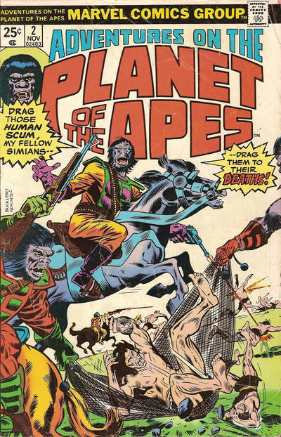 Cover for Adventures on the Planet of the Apes (Marvel, 1975 series) #2