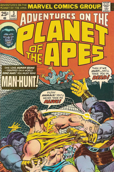 Cover for Adventures on the Planet of the Apes (Marvel, 1975 series) #3